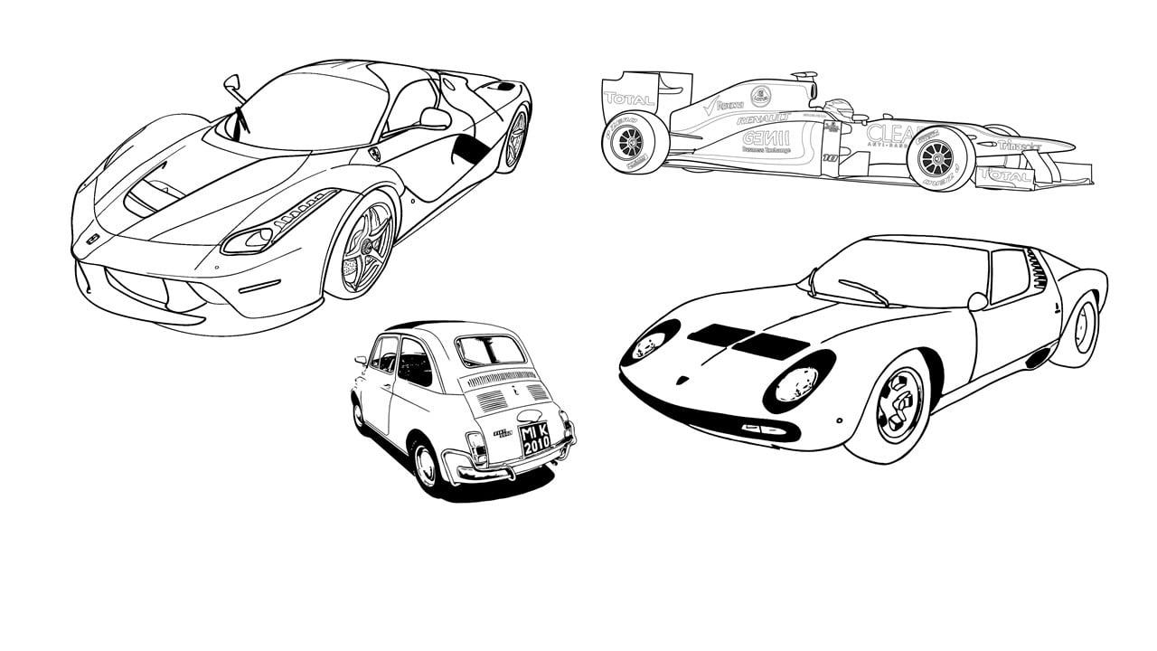 Amato Disegni da colorare: automobili | Pagine da stampare QI04